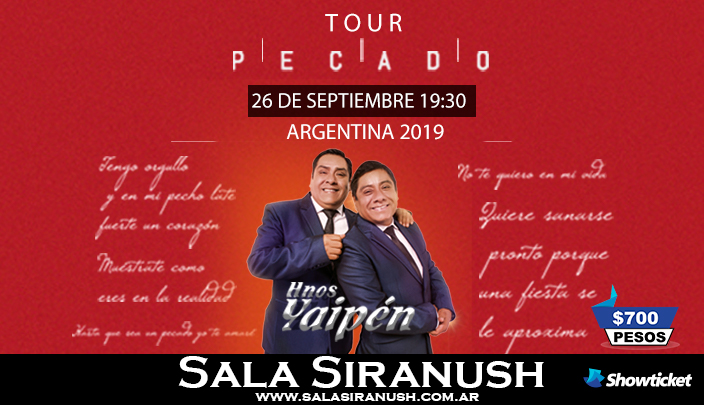 Hermanos Yaipen – Tour Pecado